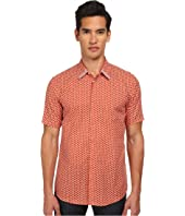 Marc Jacobs - Slim Fit Large Honeycomb Print S/S Button Up