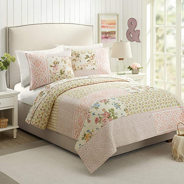 Mary Jane S Home Sweet Blooms Quilt Full Queen Pink
