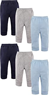 Luvable Friends Baby Boys and Girls 6 Pack Tapered Ankle Pants