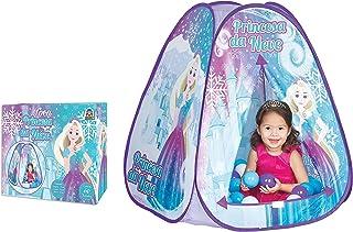 Toca Princesa da Neve com Bolinhas Braskit Azul/Roxo