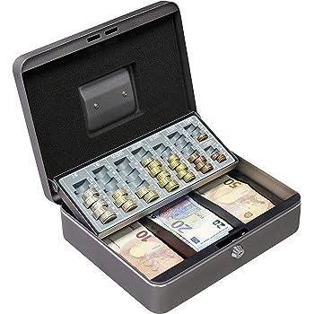 Arregui C9246-EUR Caja de caudales con Bandeja para Euros (Acero), Gris Grafito: Amazon.es: Bricolaje y herramientas