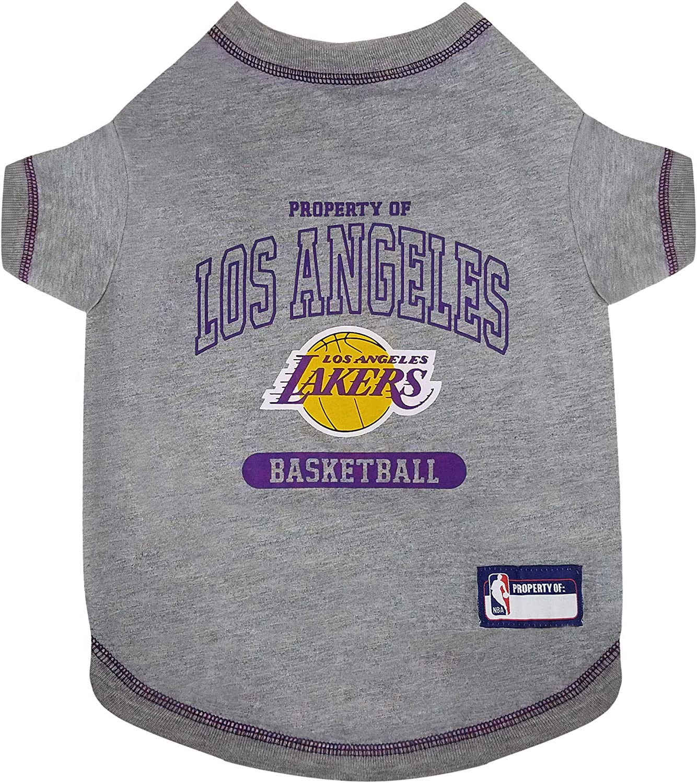 Amazon.com : Pets First NBA PET TEE Shirt Los Angeles Lakers ...