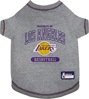 Pets First NBA Licensed Hoodies & T-shirt for Dogs & Cats, Los Angeles Lakers, Large