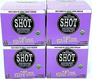 The Twisted Shot | Organic Apple Cider Vinegar Shots with Turmeric, Ginger, Cinnamon, Honey & Cayenne | Immunity Boost | W...