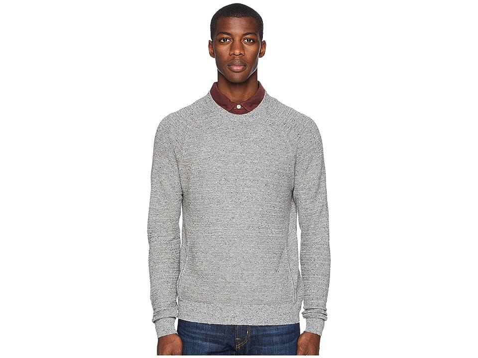 Image of Billy Reid Speckle Stripe Crew (Grey Mix) Men's Sweater