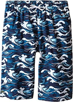 Wave Print Swim Boardshorts (Little Kids/Big Kids)