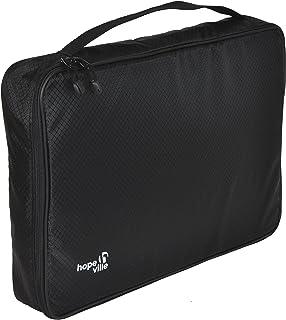 HOPEVILLE skjortväska för stickade och rynkfria skjortor, T-shirts och blommor, premiumklädväska för säker transport i res...