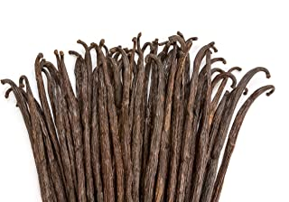 Vanilla Beans - Whole Extract Grade B Pods for Baking, Homemade Extract, Brewing, Coffee, Cooking - 1/4 LB (4 oz)   (Tahitian)