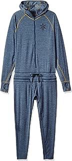 Men's Merino Hooded Outdoor Base Layer Ninja Suit, Navy, X-Small