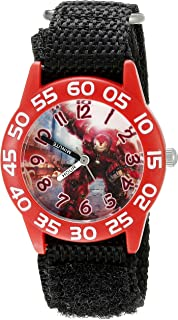 Marvel Kids' W002628 Avengers Analog Display Analog Quartz Black Watch