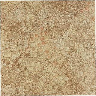 Achim Home Furnishings FTVGM32920 Nexus 12-Inch Vinyl Tile, Geo Ancient Beige, 20-Pack, Almond Mosaic