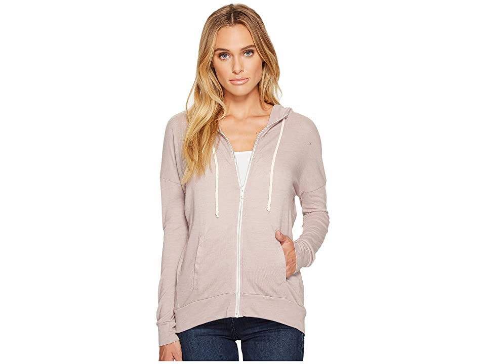 Alternative Eco Jersey Cool Down Zip Hoodie (Eco True Pale Violet) Women