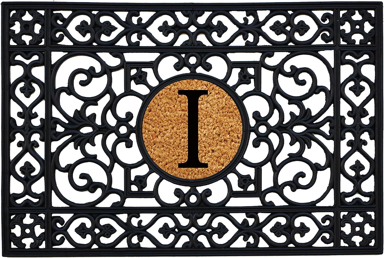 Home & More 160012436I Rubber Monogram Doormat 2-Feet X 3-Feet (Letter I)