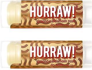 Hurraw Vata (Almond, Cardamon, Rose) Lip Balm, 2 Pack