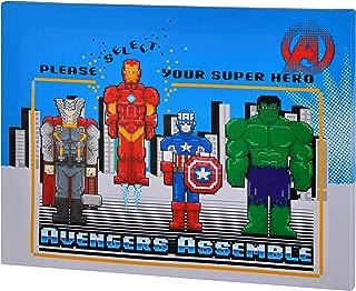 Edge home Products V2K2AV2 Marvel Avengers Minecraft 10x13.5 Canvas Wall Art