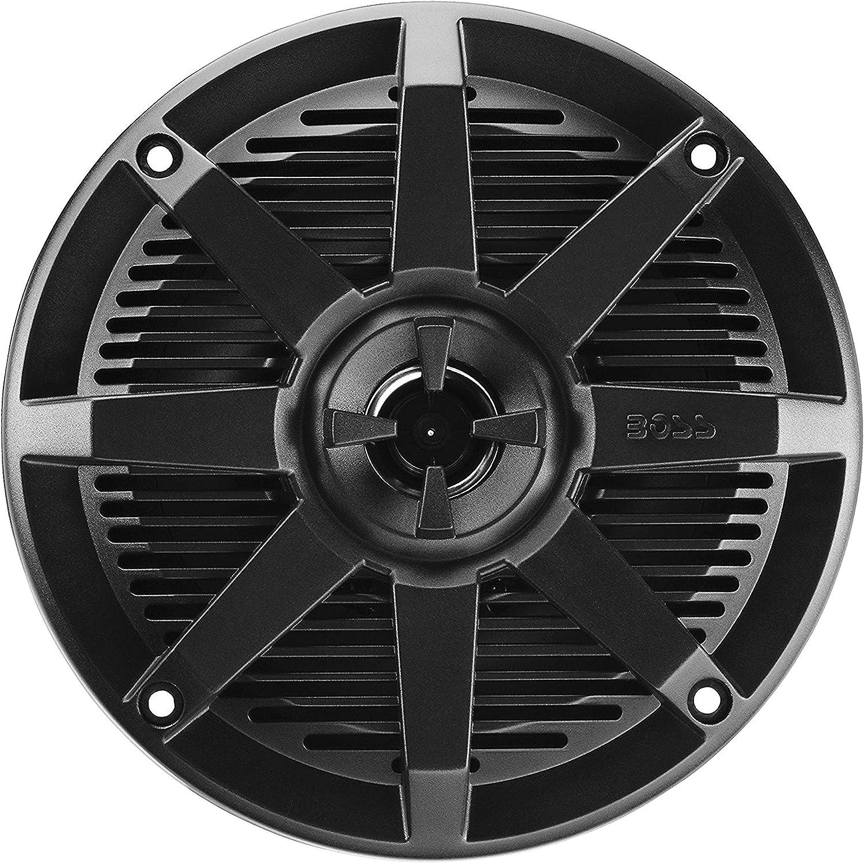 BOSS Audio Systems MR52B 150 Watt Per Pair, 5.25 Inch, Full Range, 2 Way Weatherproof Marine Speakers Sold in Pairs, Black : Everything Else