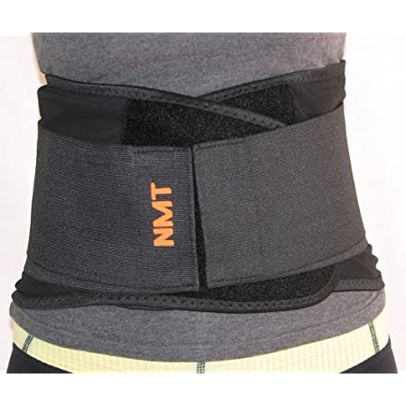 Lumber Spasms Strains Sprains Spinal Protection XL Dual Medical Waist Wrap for Chronic Pain Adjustable Back Brace for Lower Back Pain Relief Tourmaline Self-heating Back Support Herniated Disc