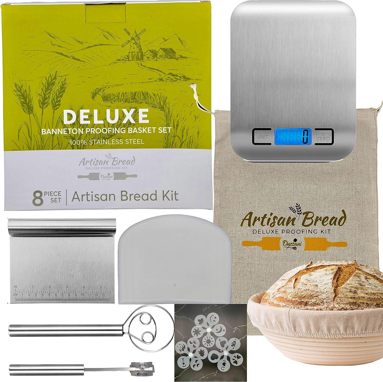 Duzzani Banneton Bread Ranking TOP12 Proofing Basket Includes Digital - Set Portland Mall Sc