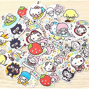 40Pcs Sanrio Love Girl Stickers Beautiful Stickers Decorative Sticker for Laptop Skateboard DIY Craft Photo Albums
