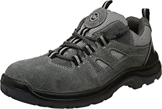 Allen Cooper AC-1439 Sports Series Safety Shoe, ISI Marked for IS 15298 Pt-2, SAntistatic, Steel Toe Cap for 200 Joules, Size 10 (GREY)