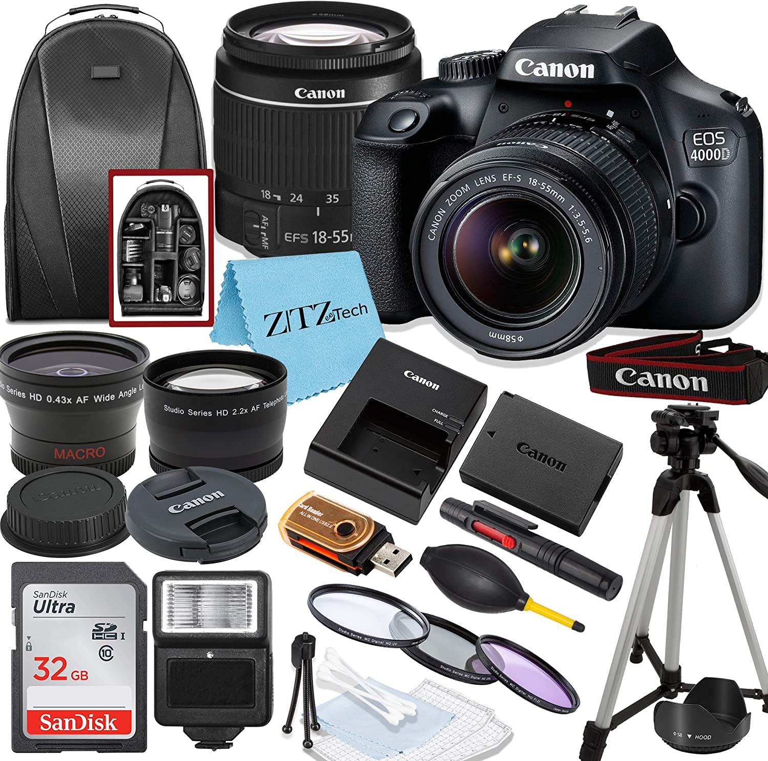 Canon EOS 4000D Rebel T100 DSLR EF-S with Camera Lens Don't miss the Max 46% OFF campaign 18-55mm