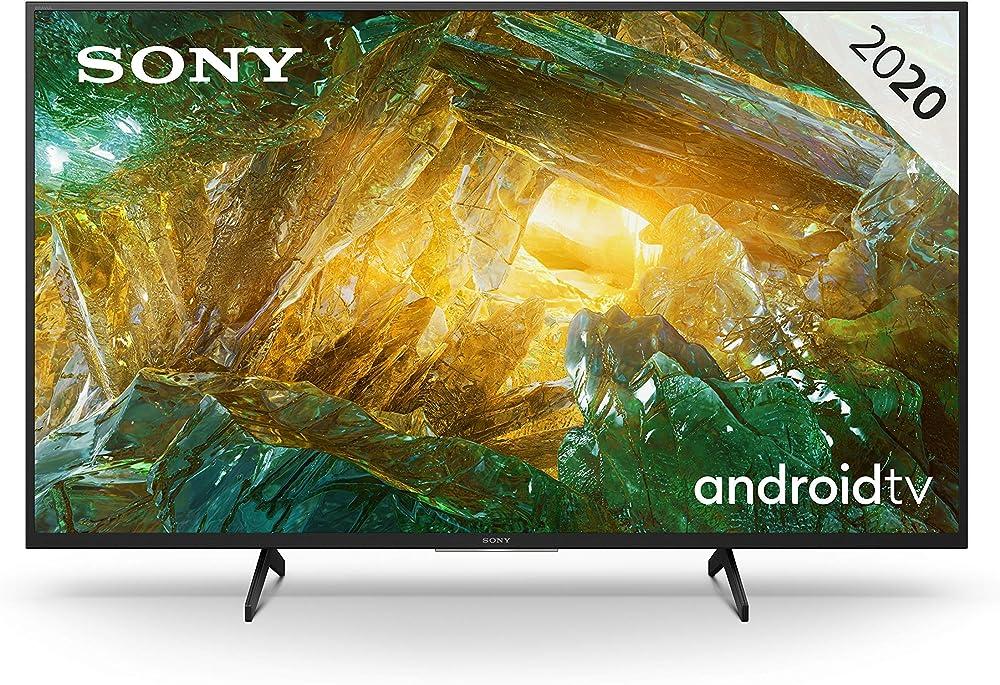 Sony televisore android tv 43 pollici, smart tv 4k hdr led ultra hd, con assistenti vocali integrati KD-43XH8096
