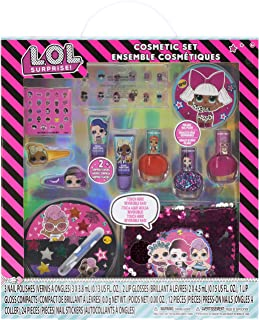 Townley Girl L.O.L. Surprise! Ultimate Makeover Set with over 20 Pieces, Including Lip Gloss, Nail Polish, Press-On Nails,...