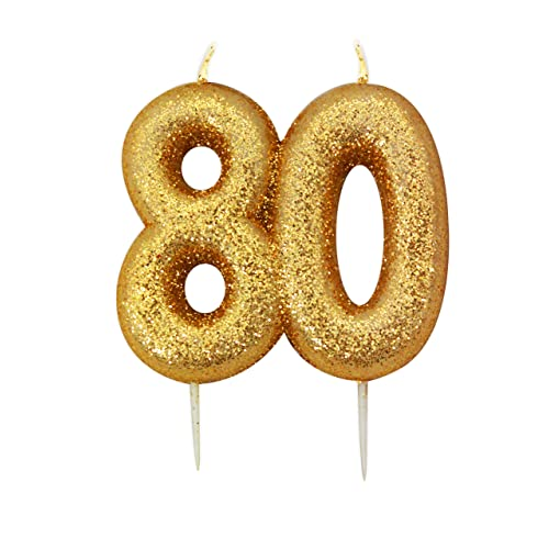 80th Birthday Candles Amazoncouk