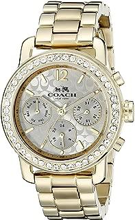 COACH Women's Legacy Sport 36mm Bracelet Watch Silver/Gold Plated Watch