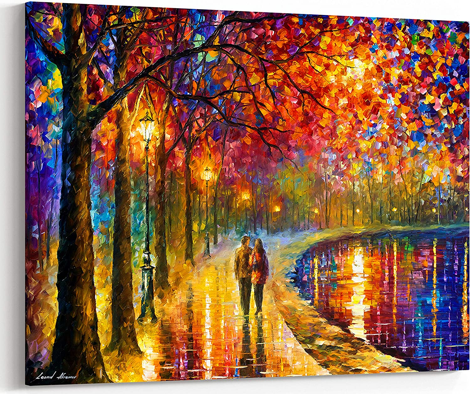 Spirit by The Lake Max Super Special SALE held 86% OFF Gorgeous rain-soaked on painting Art Wall oil