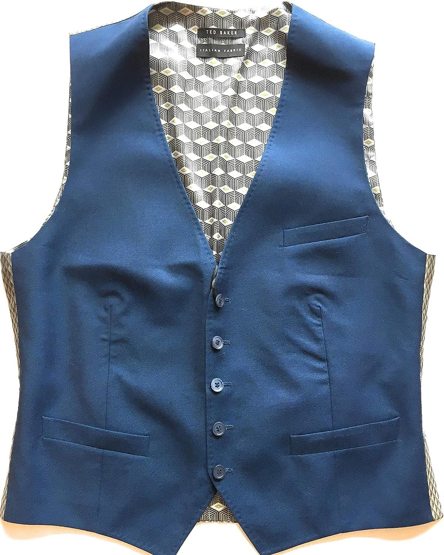 Ted Baker Men's Debonair Suit Waistcoat Vest, Blue Size 40R