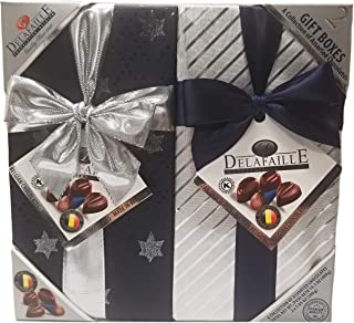 Delafaille Premium Belgian Kosher/Vegan Assorted Chocolates Gift Boxes - 2 Pack (14.1 oz.)