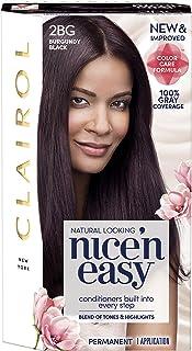 Clairol Nice 'N Easy Permanent Hair Color, 2Bg Burgundy Black