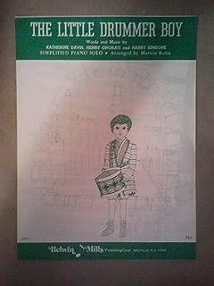 Little Drummer Boy Sheet Music (Simplified Piano)
