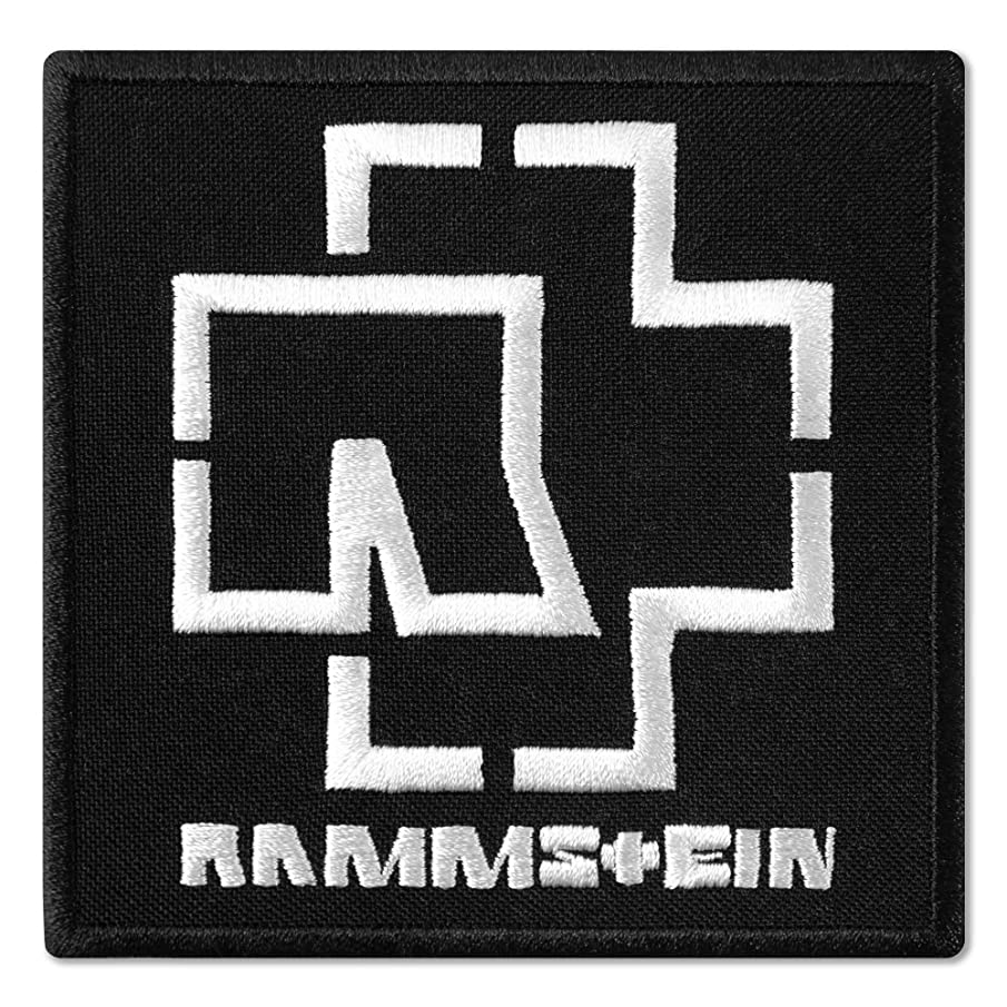 Rammstein Logo Black and White Music Rock Band Embroidered Patch Iron On (3.6