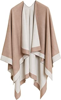 Women's Shawl Wrap Poncho Ruana Cape Cardigan Sweater...
