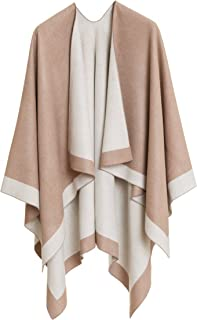 Cardigan Poncho Cape: Women Elegant Cardigan Shawl Wrap Sweater for Fall Winter