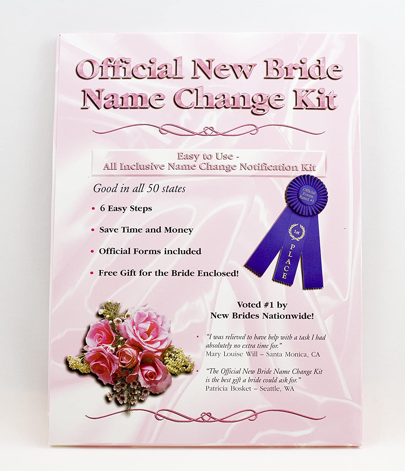 Bride Weekly update Name Change Kit Forms Max 71% OFF Legal Kits and