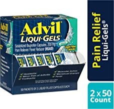 Advil Pain Reliever/Fever Reducer Liquid Filled Capsule, 100 Count (Pack of 1)