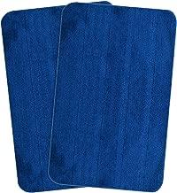 Saral Home Soft Microfiber Anti Slip Bathmat (50x80 cm, Blue)- Pack of 2