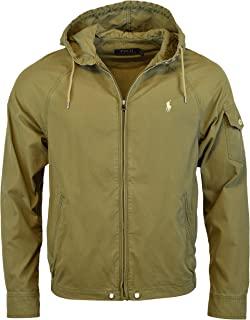 Polo Ralph Lauren Mens Nylon/Cotton Blend Waimea Hooded Windbreaker