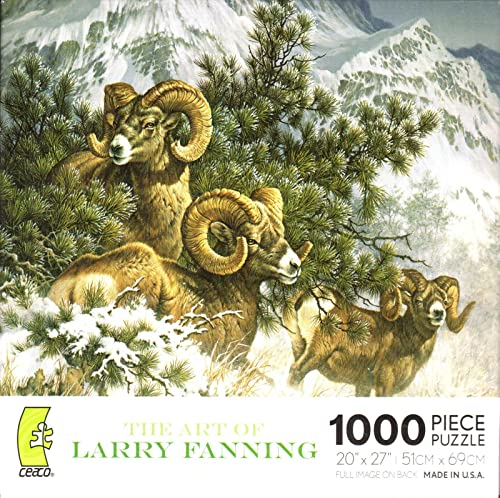 Larry Fanning Puzzle 1000-Piece - Rocky Mountain Big Horn Sheep