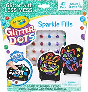 CRAYOLA 04-0626 Glitter Dots Sparkle Fills, Mess Free Glitter Craft Kit for Kids who Love Sparkle in Their Art! A Creative...