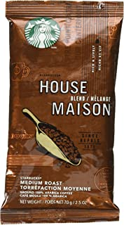 Starbucks SBK11018190 Premium Single Pot Portions Preground House Blend Coffee Packets, Medium (Pack of 18)