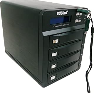 Buslink CipherShield 4-Bay RAID USB 3.0/eSATA FIPS 140-2 HIPAA 256-bit AES Hardware Encrypted External Desktop Hard Drive (56TB)