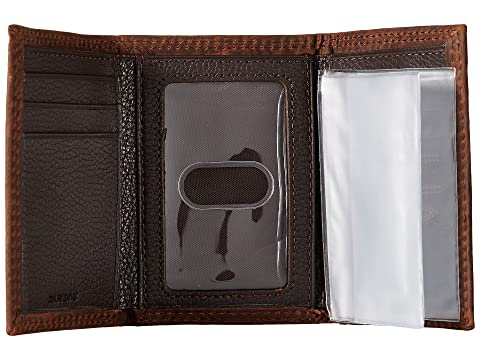 billetera Stitch Rowdy Triple Ariat Shield tríptico marrón aceite 7qInPF