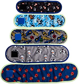 VIILER - 4 Pcs Reusable Dog Diapers and Belly Bands for Small Male Boy Dog Puppy