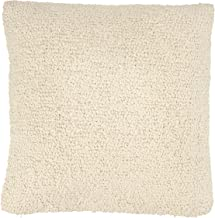 Bloomingville Cream Square Woven Cotton Boucle Pillow