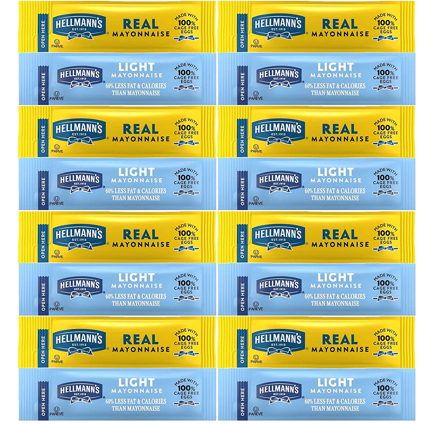 Mayonnaise Packets Hellmann's Sale Phoenix Mall price Variety; 25 of L Regular Each and