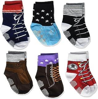 0608 Non Sikd Shoe Socks Infant Baby Boy Anti Slip Cotton Cozy Ankle Low Cut Footsocks Sneakers Crew Walker Socks Grips